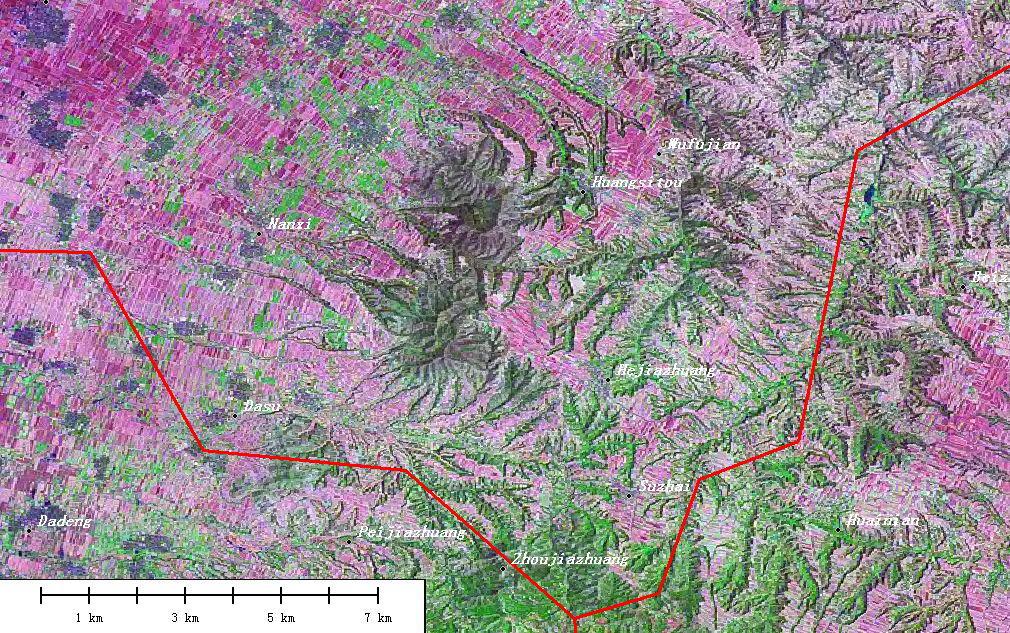 临汾市一贺家庄 -求 山西临汾的卫星地图