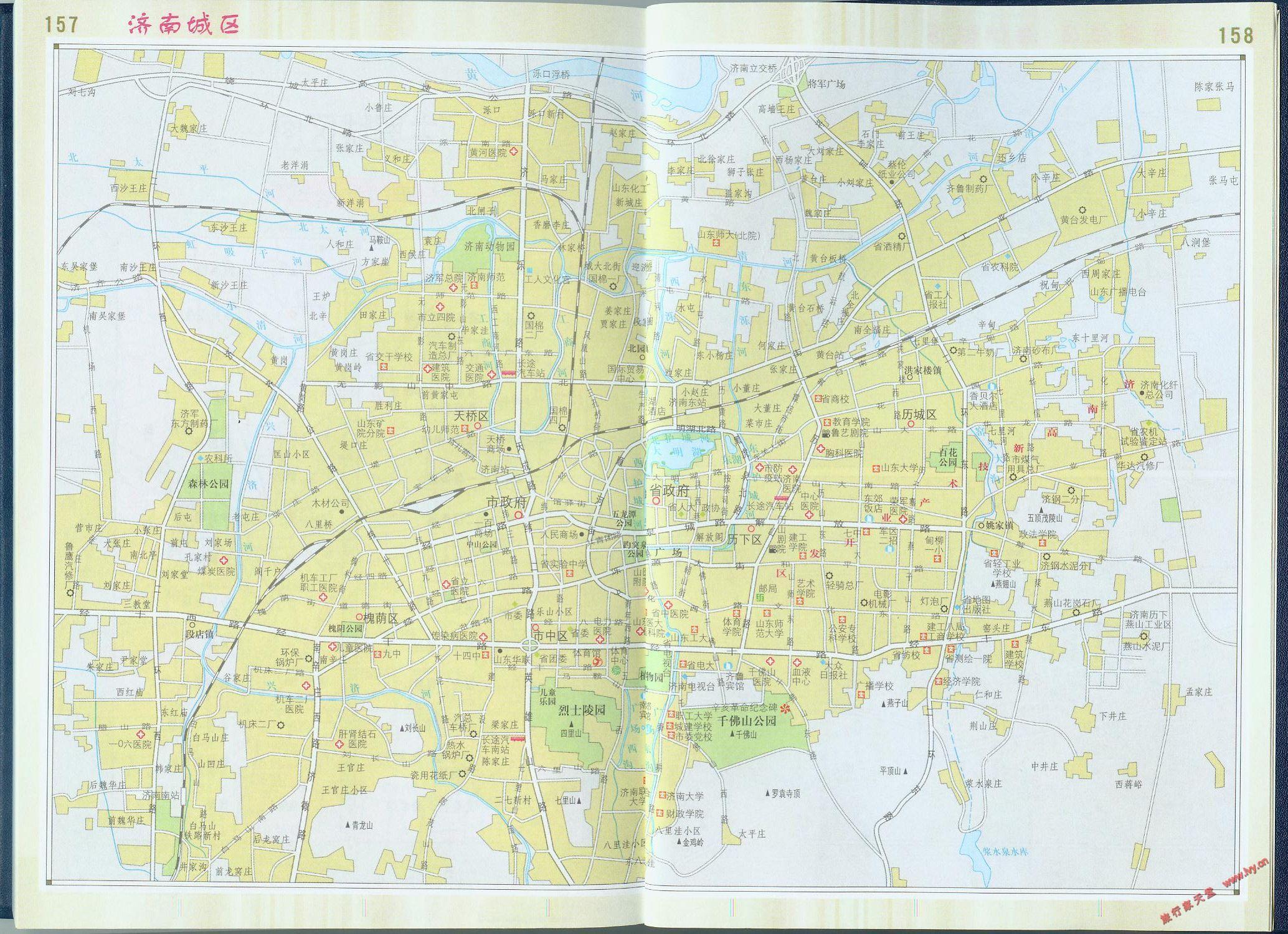 求山东省地形地图 和 济南城区详细地图 - 地图主版 -图片