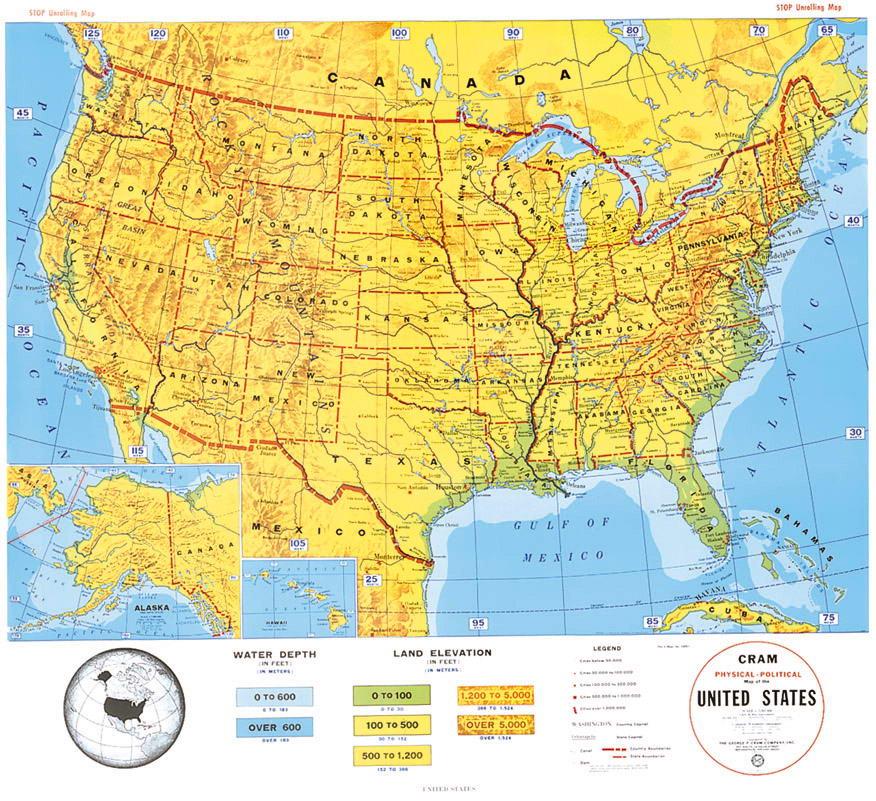 美国地图 美国地图中文版