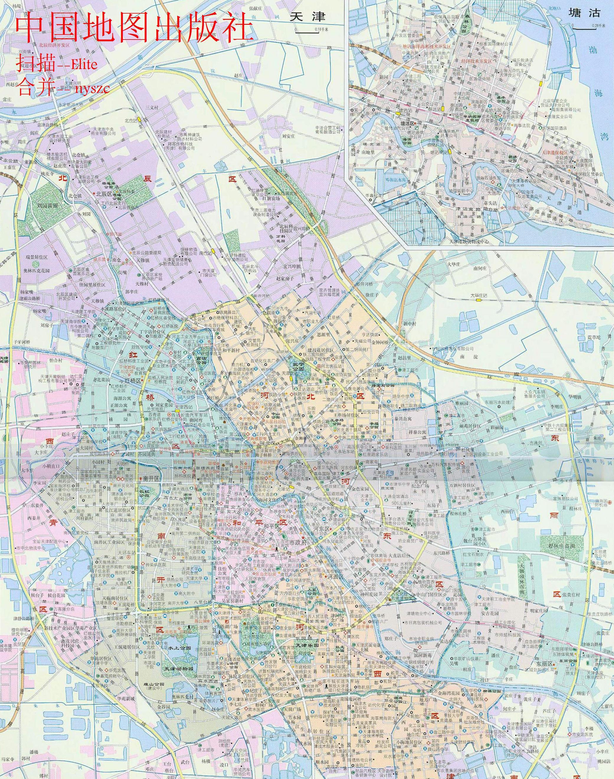 需要一张完整天津市区地图